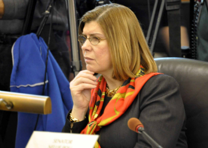 Senator Nellie Pou, D-Passaic/Bergen, hears testimony during today's Senate Judiciary Committee hearing on S-1, legislation that would establish marriage equality in New Jersey.  The bill was released from the Committee with a vote of 8-4, along party lines.  The bill now heads to the full Senate for consideration.
