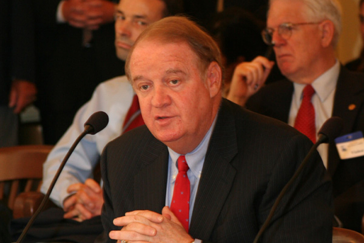Senate President and former Governor Richard J. Codey, D-Essex, testifies before the Senate Transportation Committee about efforts being conducted by Amtrak to cut down on power failure's in their Northeast transit power grid.