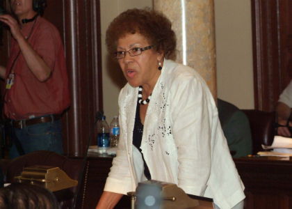 Senator Shirley K. Turner, D-Mercer, speaks in opposition to the FY 2011 Budget.