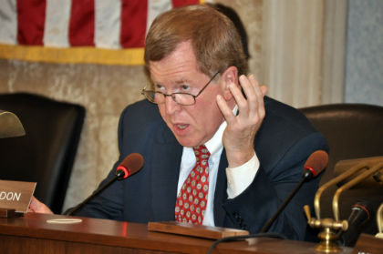 Senator Bob Gordon, D-Bergen, the Chairman of the Senate Legislative Oversight Committee, asks a question during the Committee's hearing on halfway houses in New Jersey.