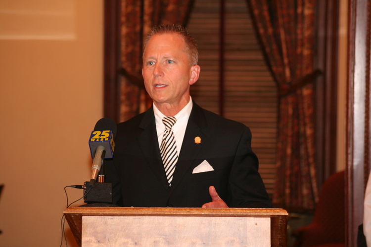 Senator Jeff Van Drew (D-Cape May and Cumberland) speaks at a news conference to Urge Horizon and Children's Hospital to Come to Agreement.